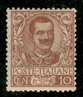 Regno - Vittorio Emanuele III - 1901 - 10 Cent Floreale (71) - Gomma Originale - Non Classificati