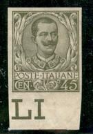 Regno - Vittorio Emanuele III - 1901 - 45 Cent Floreale (75g) - Non Dentellato - Bordo Di Foglio - Foro Di Spillo Sotto  - Non Classificati