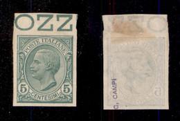 Regno - Vittorio Emanuele III - 1906 - Prova D'Archivio (P81) Bordo Foglio - Sempre Senza Gomma (380+) - Non Classificati