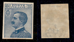 Regno - Vittorio Emanuele III - 1908 - 25 Cent Michetti (83e) Non Dentellato - Gomma Originale (90) - Non Classificati