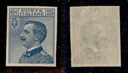 Regno - Vittorio Emanuele III - 1908 - 25 Cent Michetti (83e) Non Dentellato - Gomma Originale (praticamente Integra) - Non Classificati