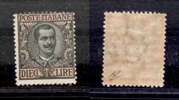 Regno - Vittorio Emanuele III - 1910 - 10 Lire Floreale (91) - Gomma Integra (275) - Non Classificati
