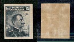 Regno - Vittorio Emanuele III - 1911 - 15 Cent Michetti (96e) - Non Dentellato - Gomma Originale (120) - Non Classificati
