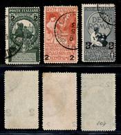 Regno - Vittorio Emanuele III - 1913 - Soprastampati (99/101) - Serie Completa Usata (25) - Non Classificati