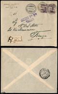 Regno - Vittorio Emanuele III - Prestito Nazionale 1917 - Coppia Del 50 Cent Michetti (Unificato 1 Varietà) Con Soprasta - Non Classificati