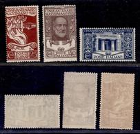 Regno - Vittorio Emanuele III - 1922 - Mazzini (128/130) - Serie Completa Di 3 Valori - Nuovi Con Gomma (60) - Non Classificati