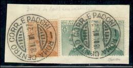 Regno - Vittorio Emanuele III - 1927 - Falso Dell'Epoca - 60 Cent Michetti (F 205) - Con Complementari (219 Coppia) - Us - Non Classificati