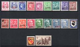 ALGERIE /   SERIE N° 225 à 244 NEUFS * * / * - Unused Stamps