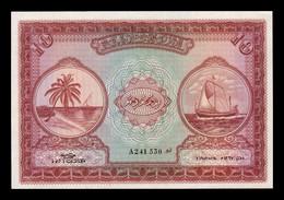 Maldivas Maldives 10 Rufiyaa 1947 Pick 5a SC UNC - Maldives