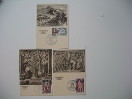 Carte Maximum     1966    N° 1495 à 1497    Grands Noms De L'Histoire - 1960-69