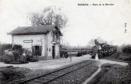 61 - LA BAROCHE SOUS LUCE - PERROU - Halte De La Baroche    RARE - Otros Municipios