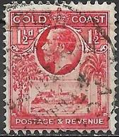 GOLD COAST 1928 King George V And Christiansborg Castle - 1 1/2 D - Red FU - Gold Coast (...-1957)