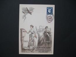 Carte-Maximum   N° 831   Centenaire Du Timbre 1949 - 1940-49