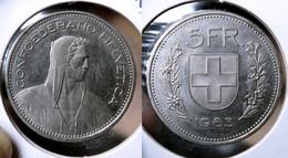 SWITZERLAND  5 FRANCS 1983 Km#40a.2 (G#17-130) - Svizzera