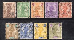 APR761 - MALTA 1922, GV Nove Valori Usati (2380) Allegorie - Malta