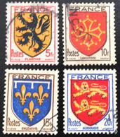 N° 602  A  605   OBLITÉRÉS  ( LOT:2297 ) - 1941-66 Stemmi E Stendardi