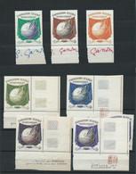 3190 - Lot De 8 Vignettes Exposition Textile Internationale Lille 1951 - 3 Avec Signature Signé GANDON - RARE Robichez - Expositions Philatéliques