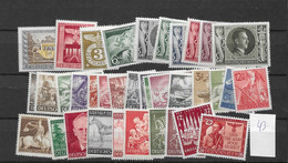 1943 MNH Reich, Complete Year, Postfris ** - Unused Stamps