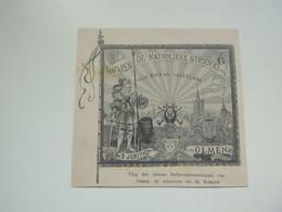 """Origineel Knipsel ( D 413 ) Uit Tijdschrift """" Ons Volk """"  1912 :  Vlag Olmen - Unclassified"""