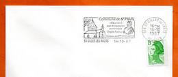974 ST GILLES LE HAUT  REUNION    Mme DESBASSYNS 1987 Lettre Entière N° XY 418 - Annullamenti Meccanici (pubblicitari)