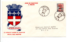 FDC 1959 SINISTRES DE FREJUS - 1950-1959