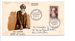 FDC 1957 JULES GUESDE - 1950-1959