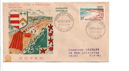 FDC 1954 ROYAN - 1950-1959