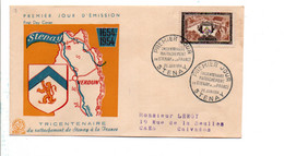 FDC 1954 RATTACHEMENT DE STENAY - 1950-1959