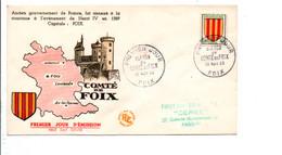 FDC 1955 BLASON COMTE DE FOIX - 1950-1959