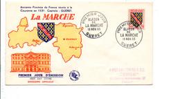 FDC 1955 BLASON DE LA MARCHE GUERET - 1950-1959