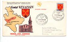 FDC 1955 BLASON DU COMTAT VENAISSIN - 1950-1959