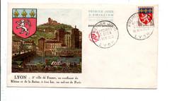 FDC 1958 ARMOIRIES DE LYON - 1950-1959
