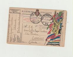FRANCHIGIA  POSTA MILITARE 76 DEL 1918 VIAGGIATA VERSO CASSINO WW1 - Zonder Portkosten