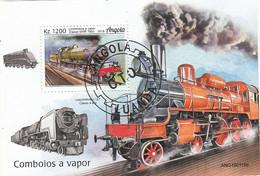 Angola 2019 - Treni A Vapore - GWR 7800 Class Steam Locomotive & Locomotive U-127 Class 4-6 - CTO - Treni