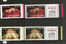Fille Ou Garçon (logo ASPPI) Personnalisés. 4 Val. 2005 Neufs **  Côte 29 Euro - Unused Stamps