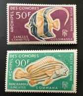 COMORES 1968 - NEUF** / MNH - POSTE AERIENNE PA 23 / 24 - LUXE - POISSONS CV 17 EUR - Posta Aerea
