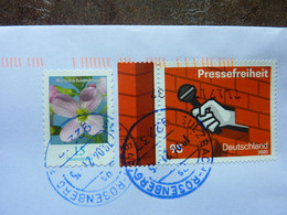 2020  Pressefreiheit   2 Stamps  Used On A Letter - Used Stamps
