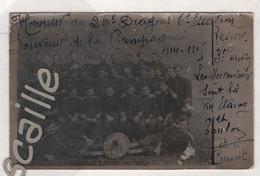 MILITARIA  - CARTE PHOTO HONNEUR AU 26e DRAGONS 6e ESCADRON / LES MORVANDAIS SONT LA ETANG TOULON & LE CREUSOT / THANN 1 - Uniforms