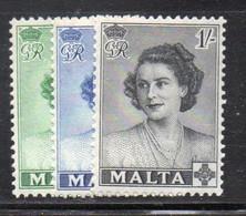 APR1074 - MALTA 1950 , Royal Visit N. 222/224  *** MNH  (2380) - Malta