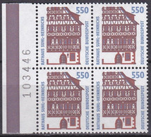 BRD, 1994, Sehenswürdigkeiten (XVII) Mi. Nr. 1746** ,  Viererblock Mit Bogenzähler - Neufs