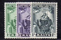 APR1153 - MALTA 1951 , Serie N. 225/227  *** MNH (2380) - Malta