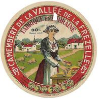 ETIQU. CAMEMBERT Vallée De LA FREZELLE Vosges - Kaas