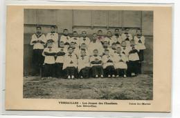 78 VERSAILLES Carte RARE Enfants De Choeur Les Jeunes Des Chantiers - Les Gérardins 1910   D08 2021 - Versailles