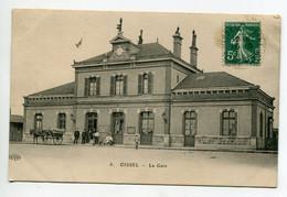 76 OISSEL La Gare Des Voyageurs Caleche Cheval Anim 1911 Timb    D08 2021 - Autres Communes