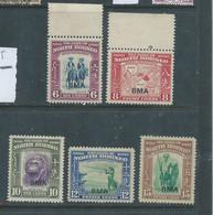 North Borneo GVIR 1945  BMA Opt, 66c, 8c, 10c, 12c, 15c MH * - Bornéo Du Nord (...-1963)