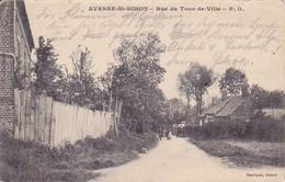 ( 02 ) - Avesne-St-Simon Rue Du Tour Carte Allemande 1° Guerre - Other Municipalities