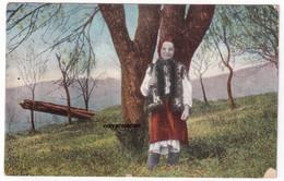 Gruss Von Den Karpaten, Ruthenische Volkstracht, Alte Postkarte 1916, Feldpost, Ruthenen - Costumi