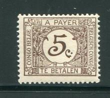 CONGO BELGE- Taxe Y&T N°66- Neuf Sans Charnière ** - Taxe: Neufs