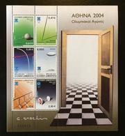 GREECE, 2003 ATHENS 2004 SPORTS EQUIPMENT SHEET, MNH - Ongebruikt