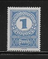 AUTRICHE  ( AUTR - 558 ) 1917  N° YVERT ET TELLIER   N° 84   N** - Strafport